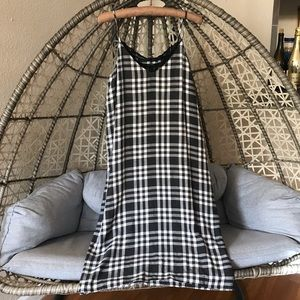 Zara Checked Gingham Camisole Dress - Black/white